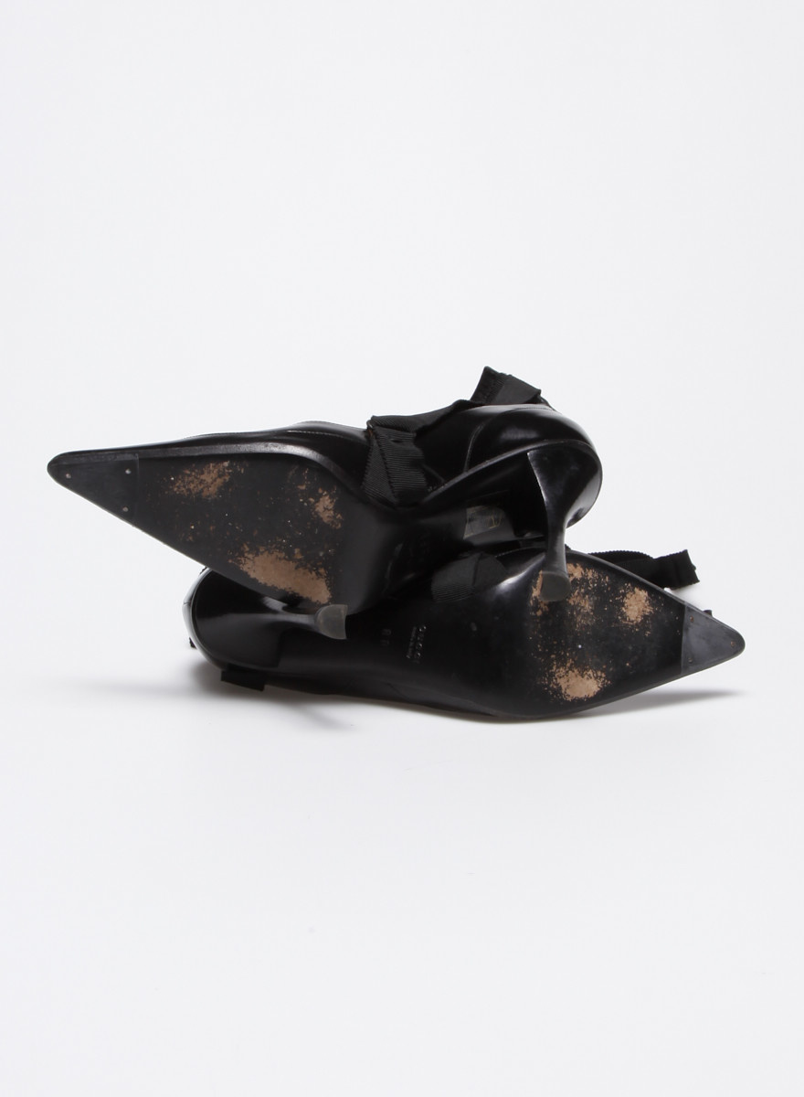 Gucci NEW PRICE (WAS $240) - BLACK LACE-UP LEATHER PUMPS