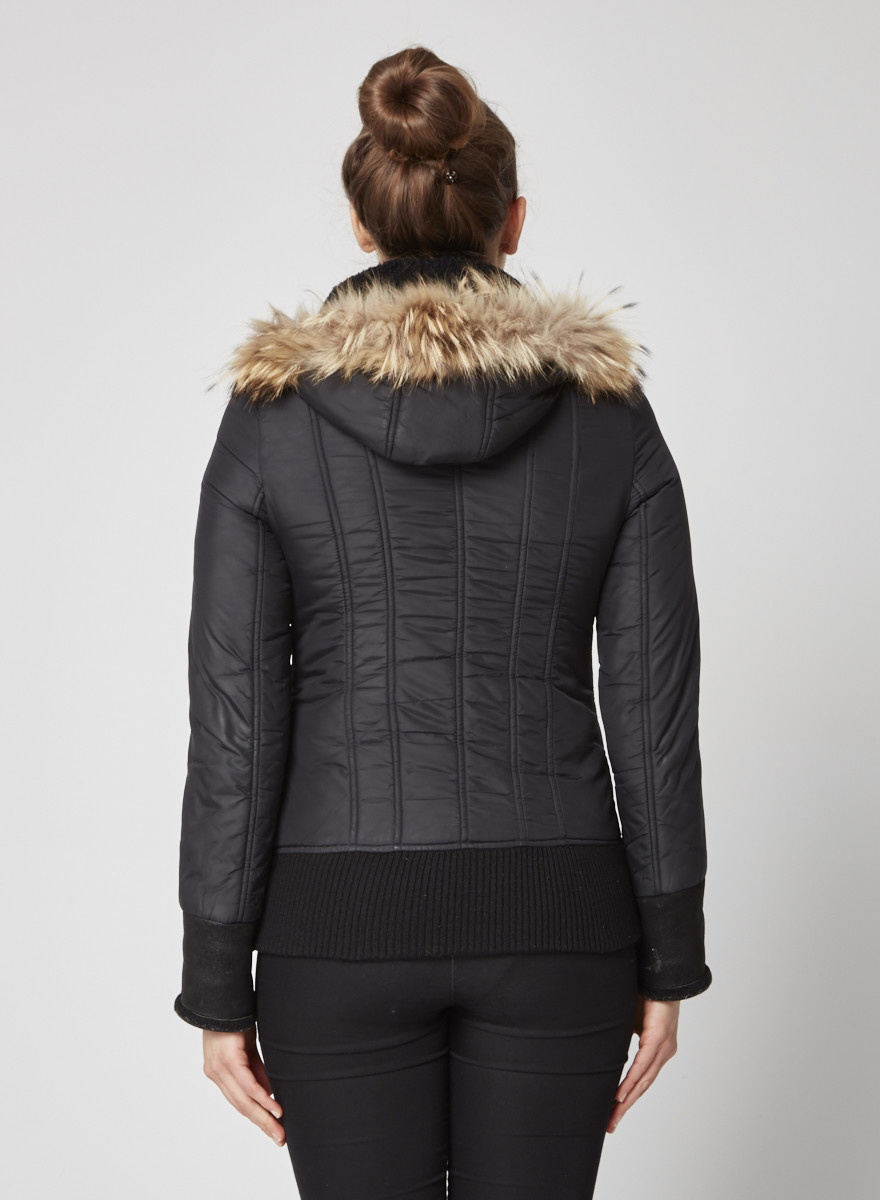 Mackage Black quilted coat