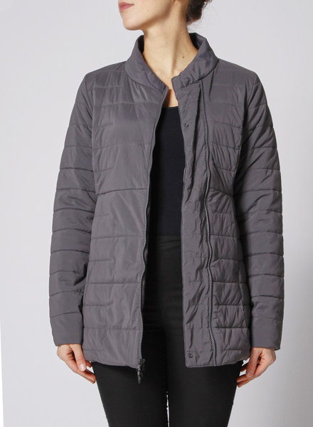 North Face GREY QUILTED COAT - NEW WITH TAGS