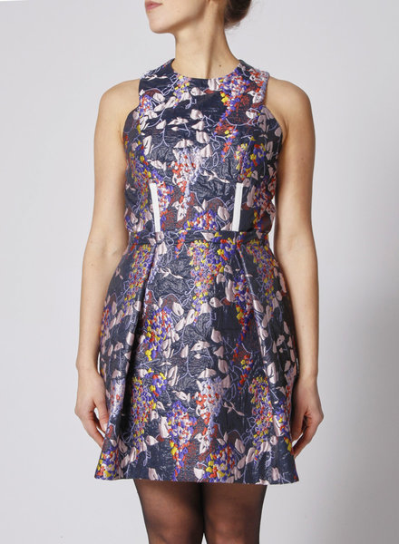 Carven SLEEVELESS JACQUARD DRESS