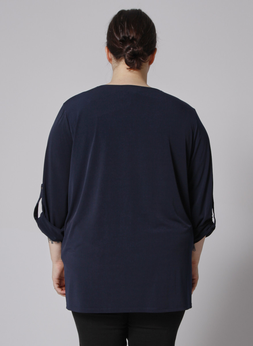 MICHAEL Michael Kors Blue top with chained collar