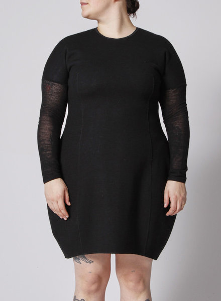 Marie Saint Pierre BLACK WOOLEN DRESS