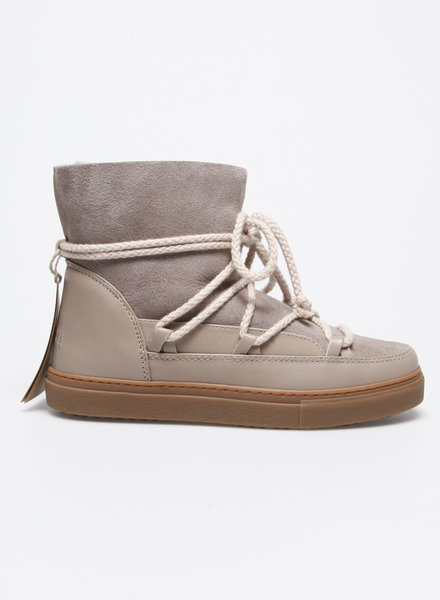 Inuikii BEIGE LEATHER AND SUEDE WINTER BOOTS - NEW