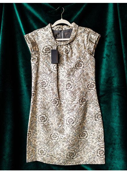 Burberry GOLDEN SILK FLOWER-PRINT DRESS - WITH TAGS