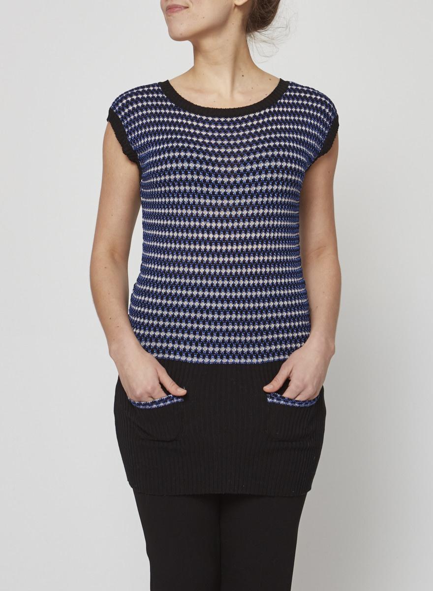 M Missoni Sleeveless honeycomb texture tunic dress