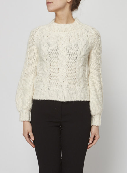 Anine Bing OFF-WHITE WOOL MIX SWEATER