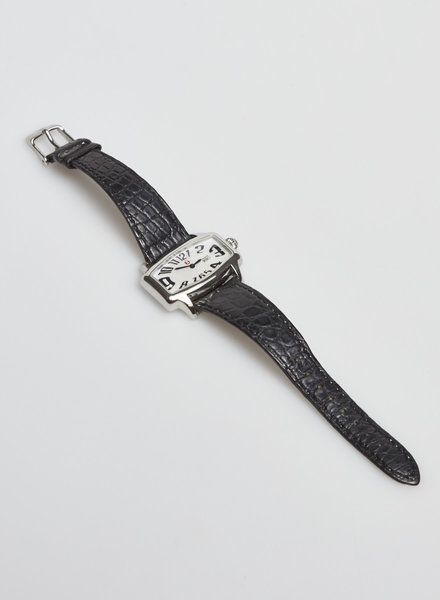 Michele MONTRE NOIRE EN CUIR D'ALLIGATOR