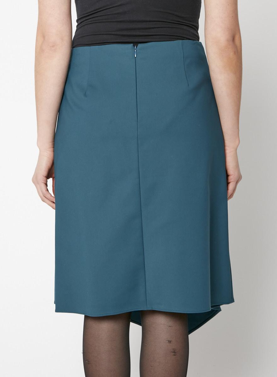 Tibi Emerald Green Ruffled Midi Skirt - New