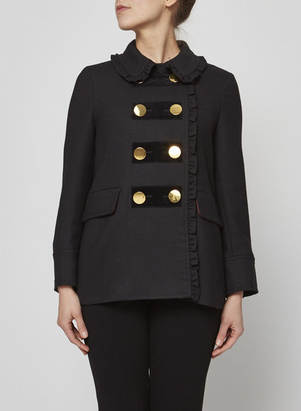 Kate Spade PETER PAN COLLAR DOUBLE-BREASTED COAT
