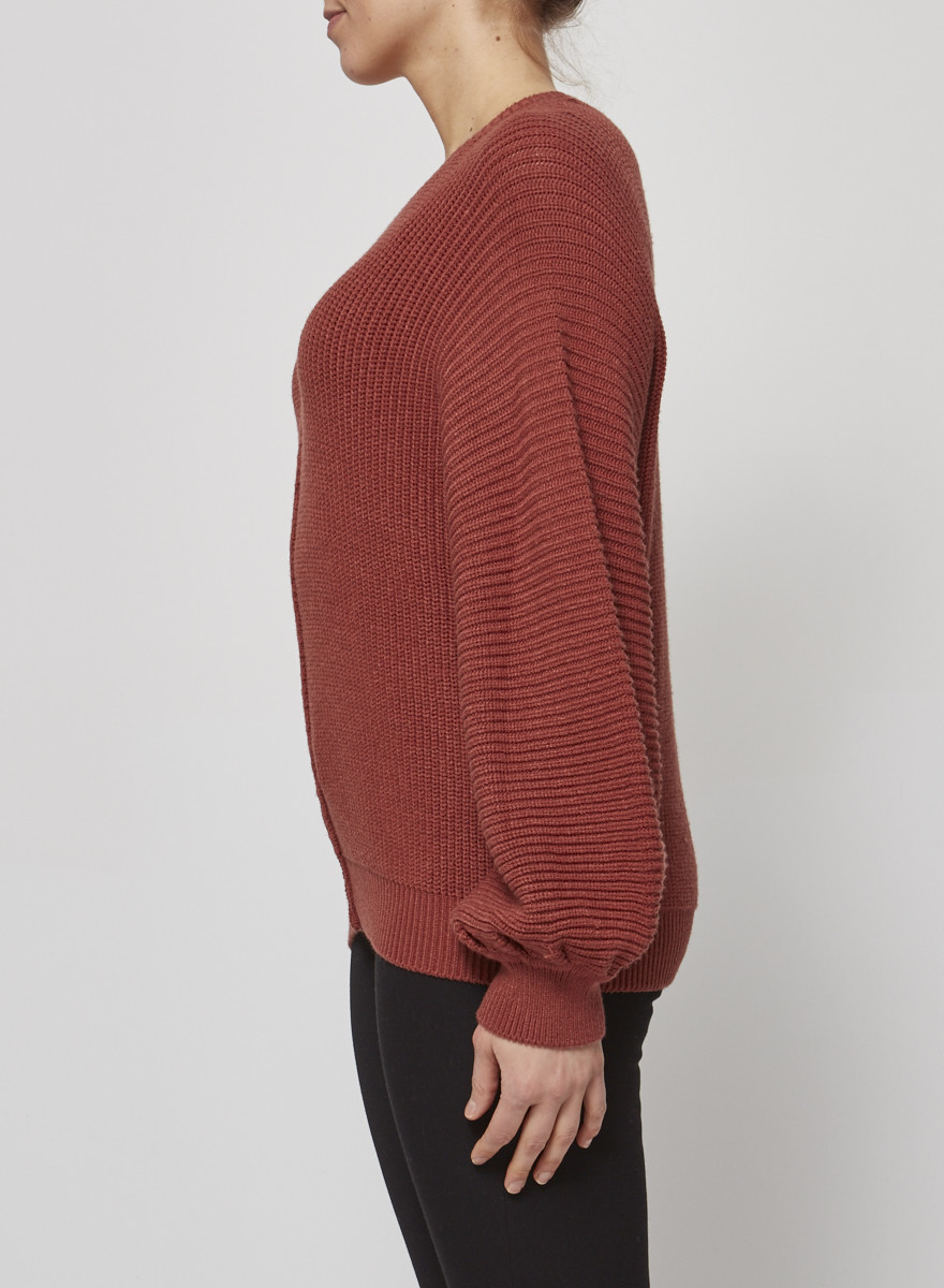Elan Rosewood Pullover with Balloon Sleeves - New with Tag