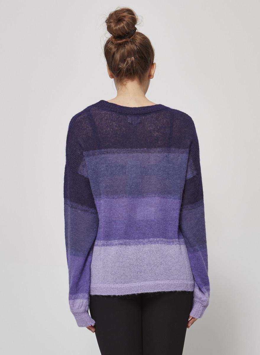 Charli Purple Pullover Made with Alpaca