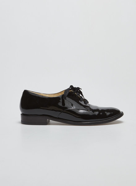 Robert Clergerie BLACK PATENT OXFORD SHOES