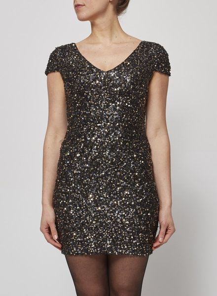 Heartloom BLACK SEQUINED DRESS - NEW WITH TAG