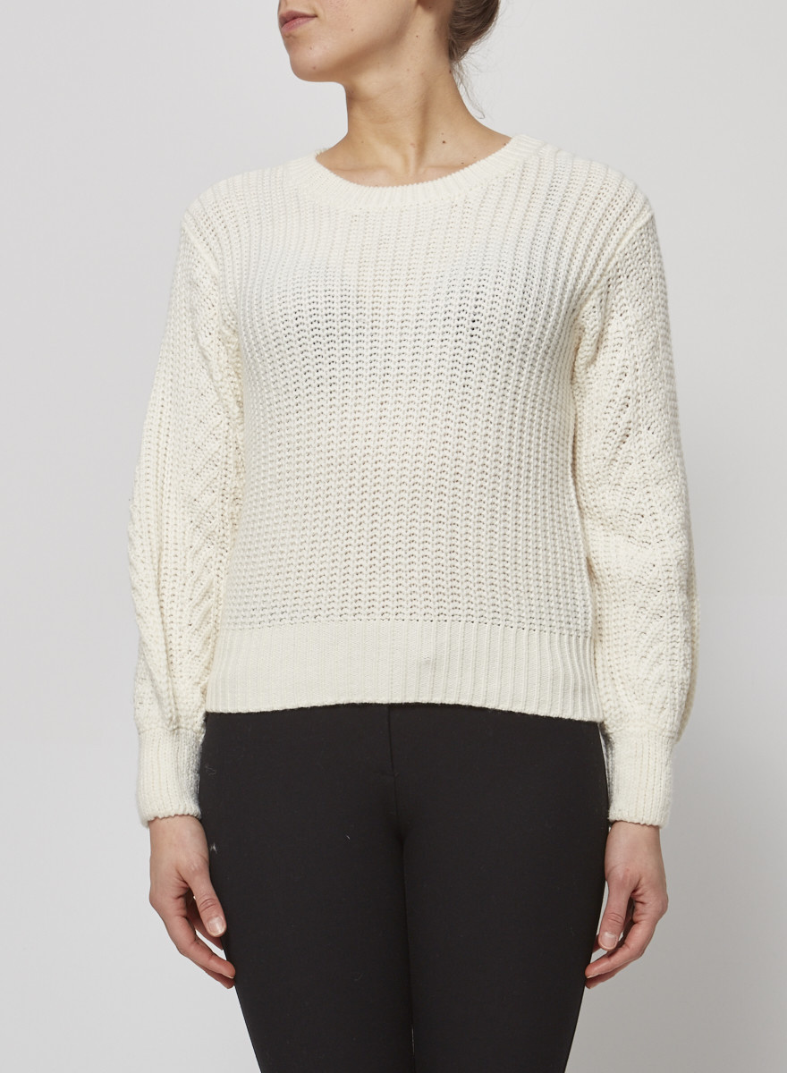 Heartloom OFF-WHITE SWEATER