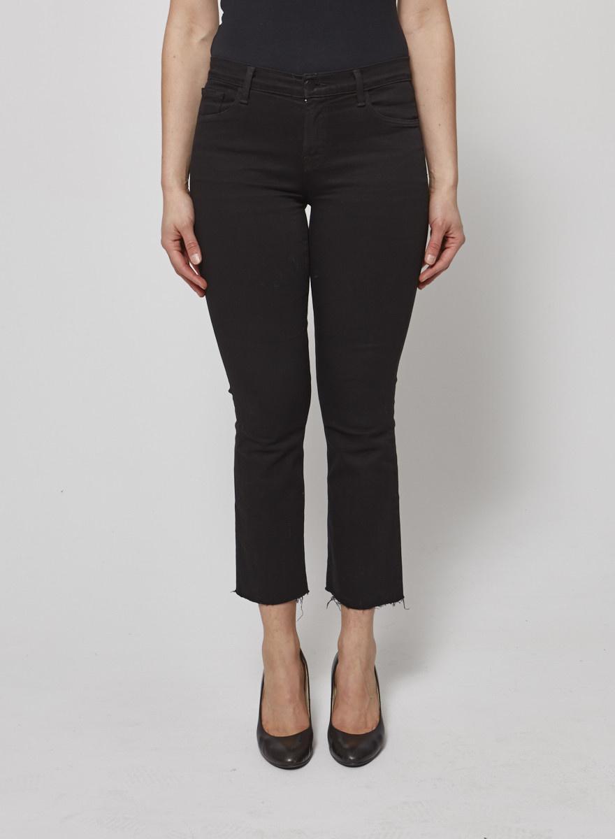 J Brand Jeans noirs à fausses déchirures