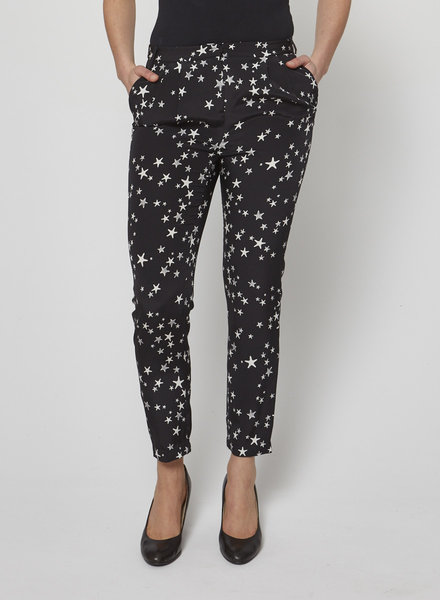 Tibi SILK PLEATED PANT WITH STAR PRINT