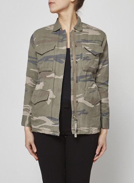Rails FAUX SHERPA LINED MILITARY JACKET  WITH CAMOUFLAGE PRINT