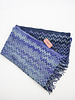 Missoni Écharpe motifs chevrons mauve et bleu - Neuf avec étiquette