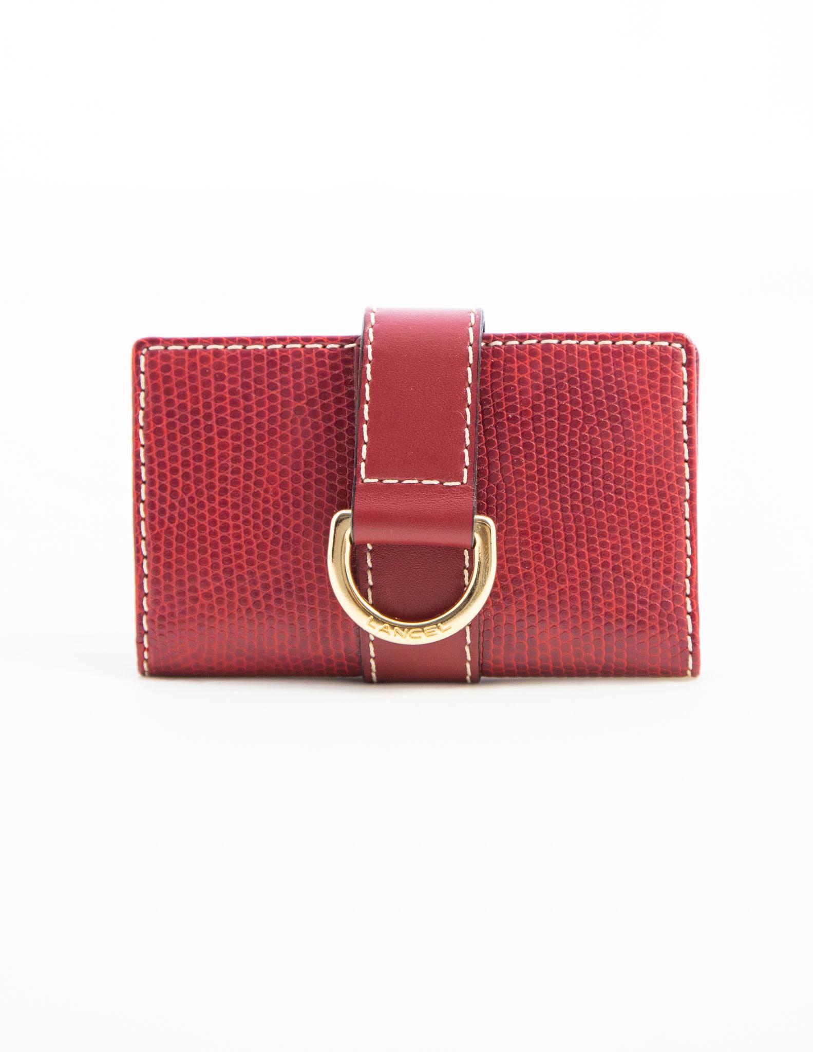 Lancel SMALL RED CARD & KEY HOLDER