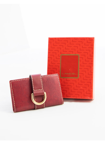 Lancel SMALL RED CARD & KEY HOLDER