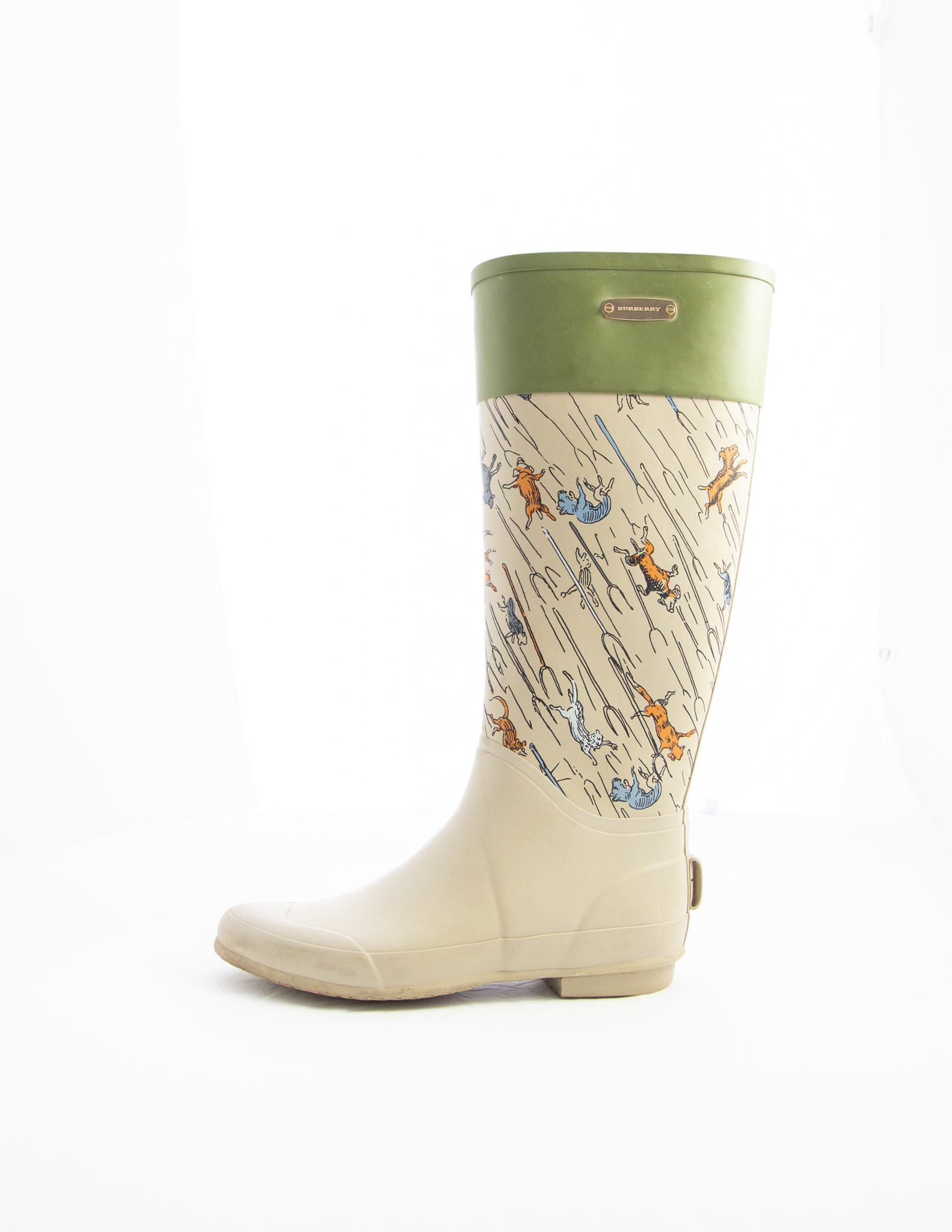 "Burberry ""It's Raining Cats & Dogs"" Rain Boots"
