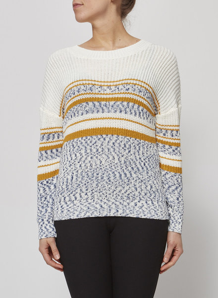 Heartloom OFF-WHITE, YELLOW & BLUE SWEATER - NEW WITH TAG