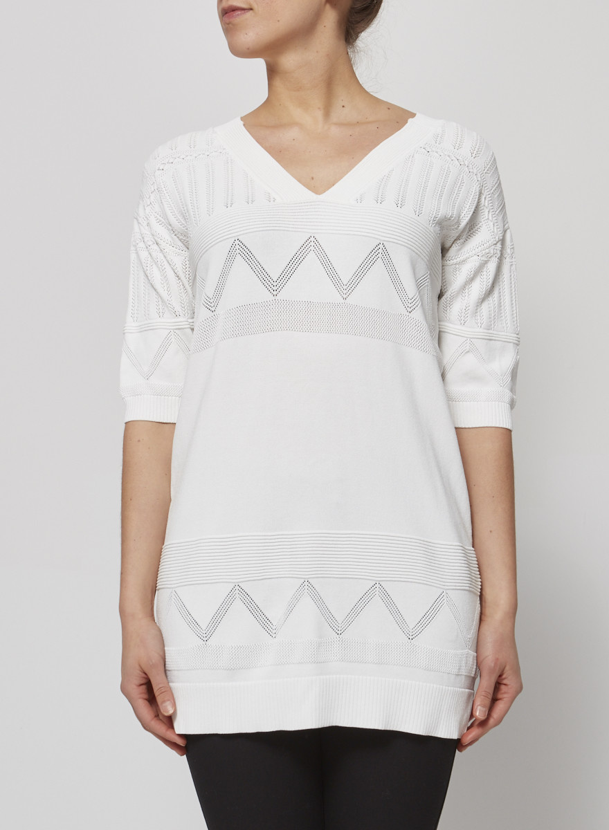 Tara Jarmon White Long Top