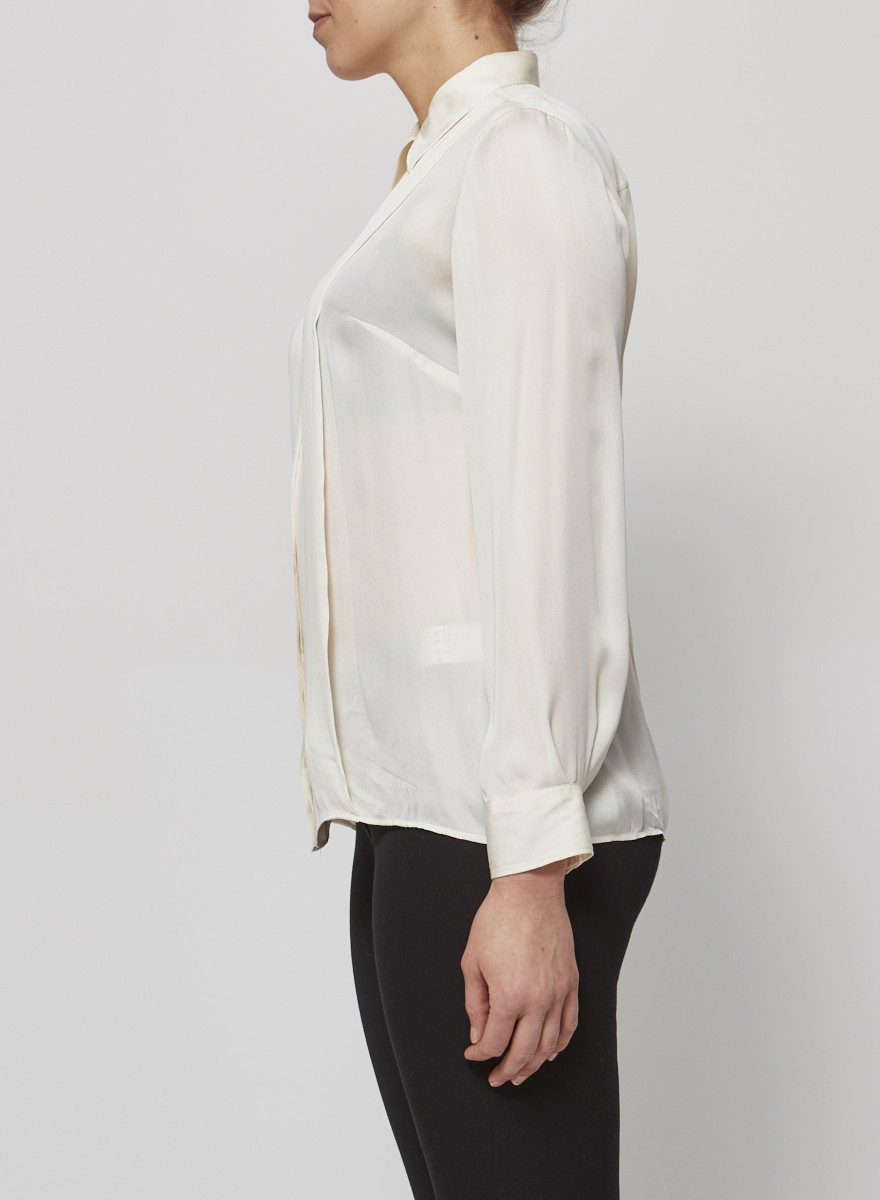 Dolce & Gabbana Off-White Silk Blouse