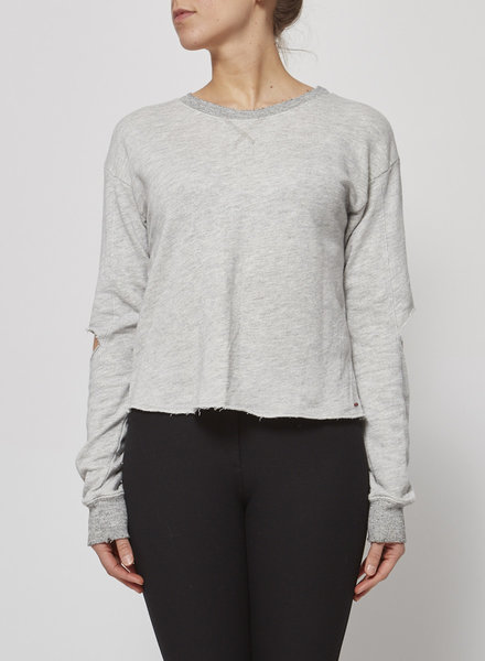 N:Philanthropy GREY OPEN ELBOW SWEATER