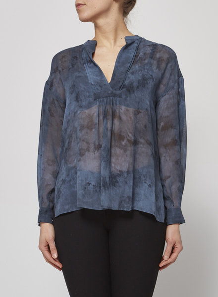 Vince NEW PRICE (WAS $140) - BLUE SEE-THROUGH BLOUSE