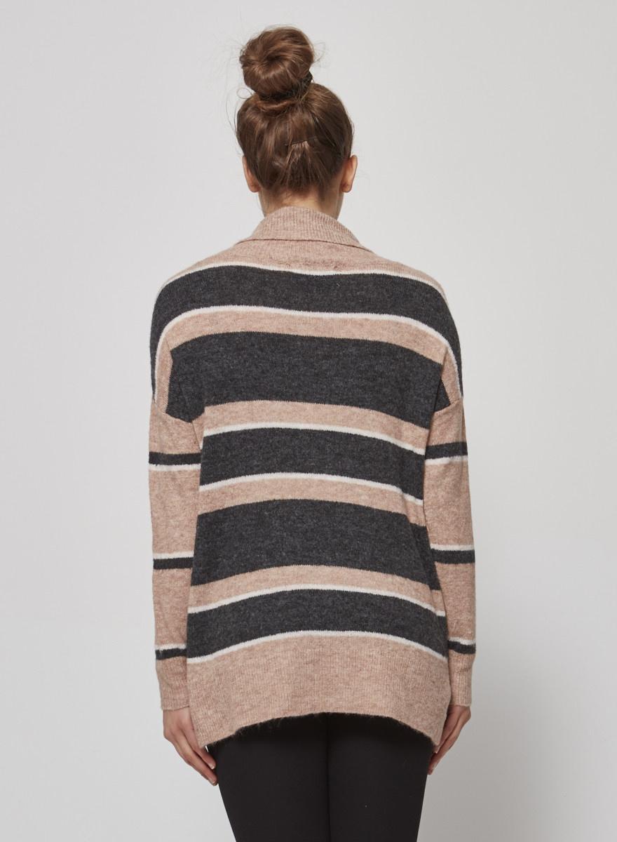 Heartloom Striped turtleneck sweater - New
