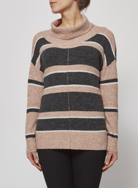 Heartloom STRIPED TURTLENECK SWEATER- NEW