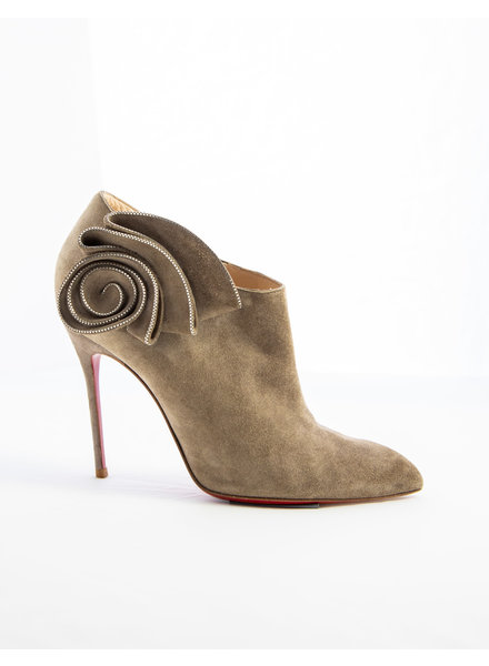 Christian Louboutin BEIGE SUEDE BOOTIES