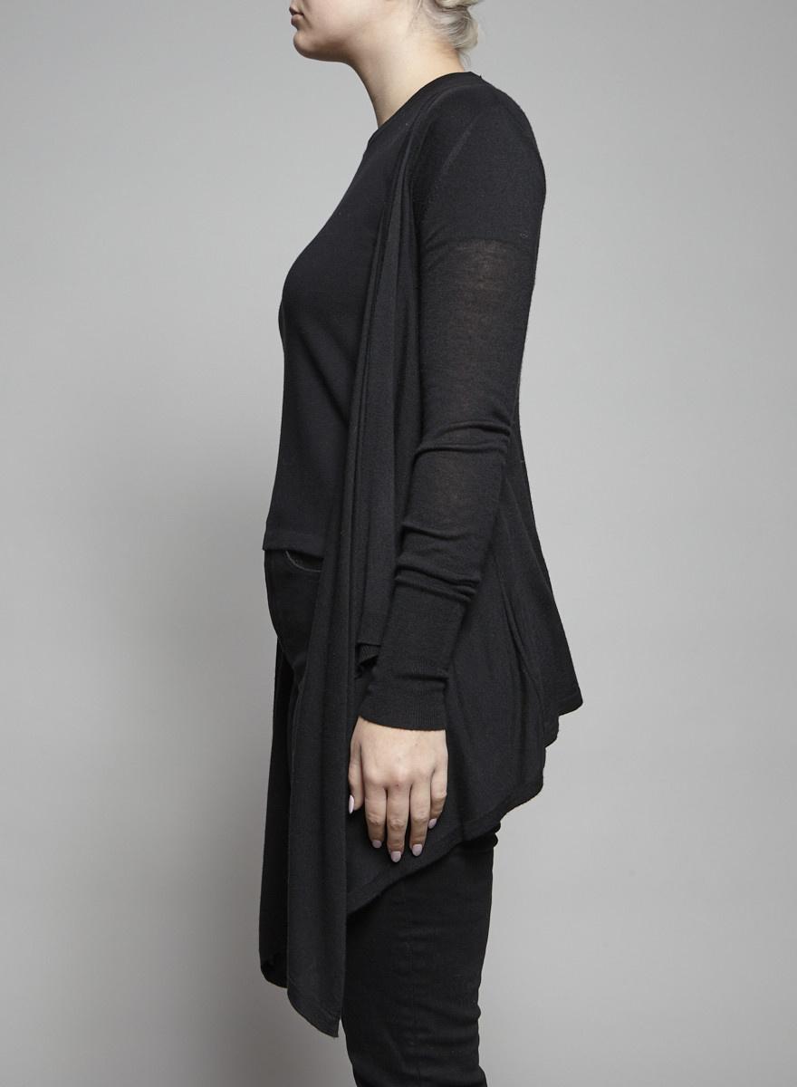 Line Cardigan noir