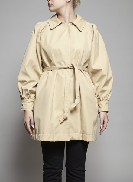 Opening Ceremony BEIGE TRENCH COAT WITH BALLOON SLEEVES