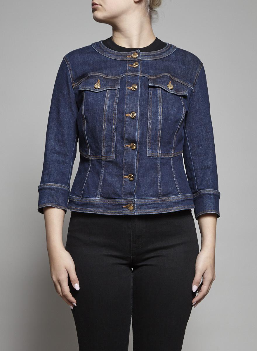 Ashley Graham x Marina Rinaldi Veste en jeans bleu