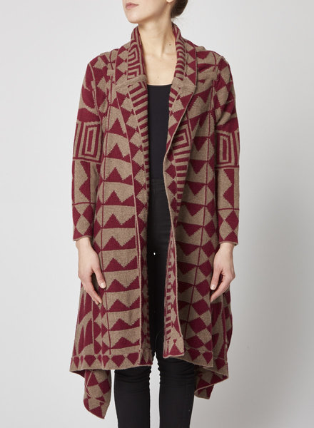 Funktional BROWN & BURGUNDY CARDIGAN