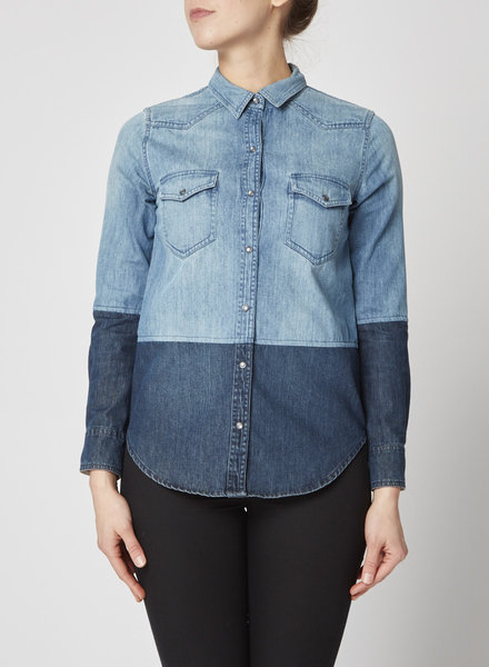 Club Monaco TWO TONE DENIM SHIRT