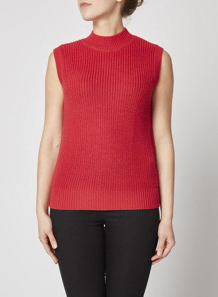 Airfield RED SWEATER SLEEVELESS VEST