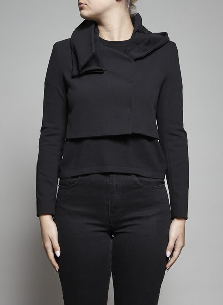 Ports 1961 BLACK BOLERO WITH DRAPED COLLAR