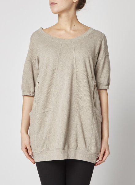 Marc by Marc Jacobs BEIGE COTTON SWEATSHIRT DRESS