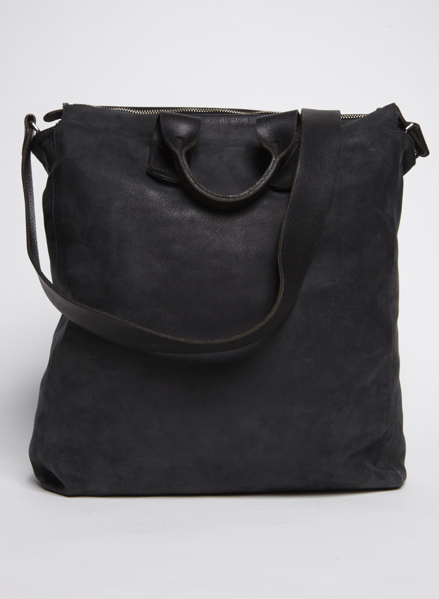 M0851 Black Leather Tote Bag
