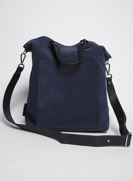 M0851 BLUE SUEDE TOTE BAG