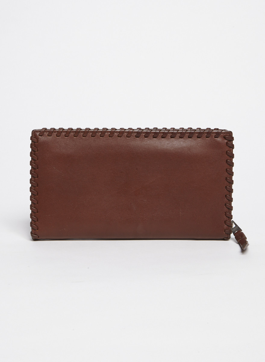 AllSaints Brown Leather Wallet