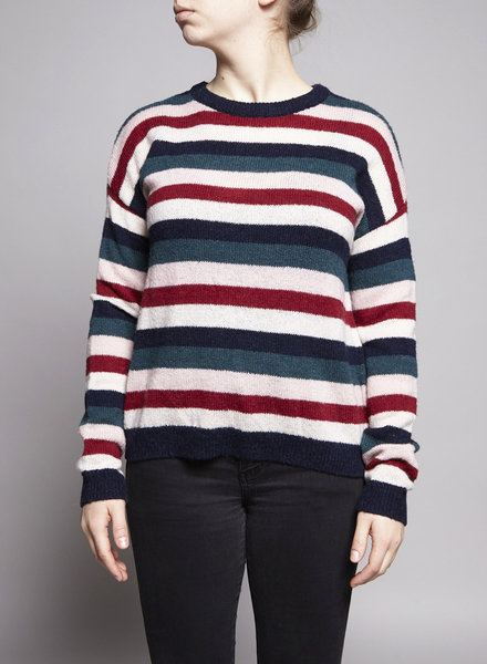 Rails ADELA - NAVY RAINBOW MULTI SWEATER - NEW WITH TAG