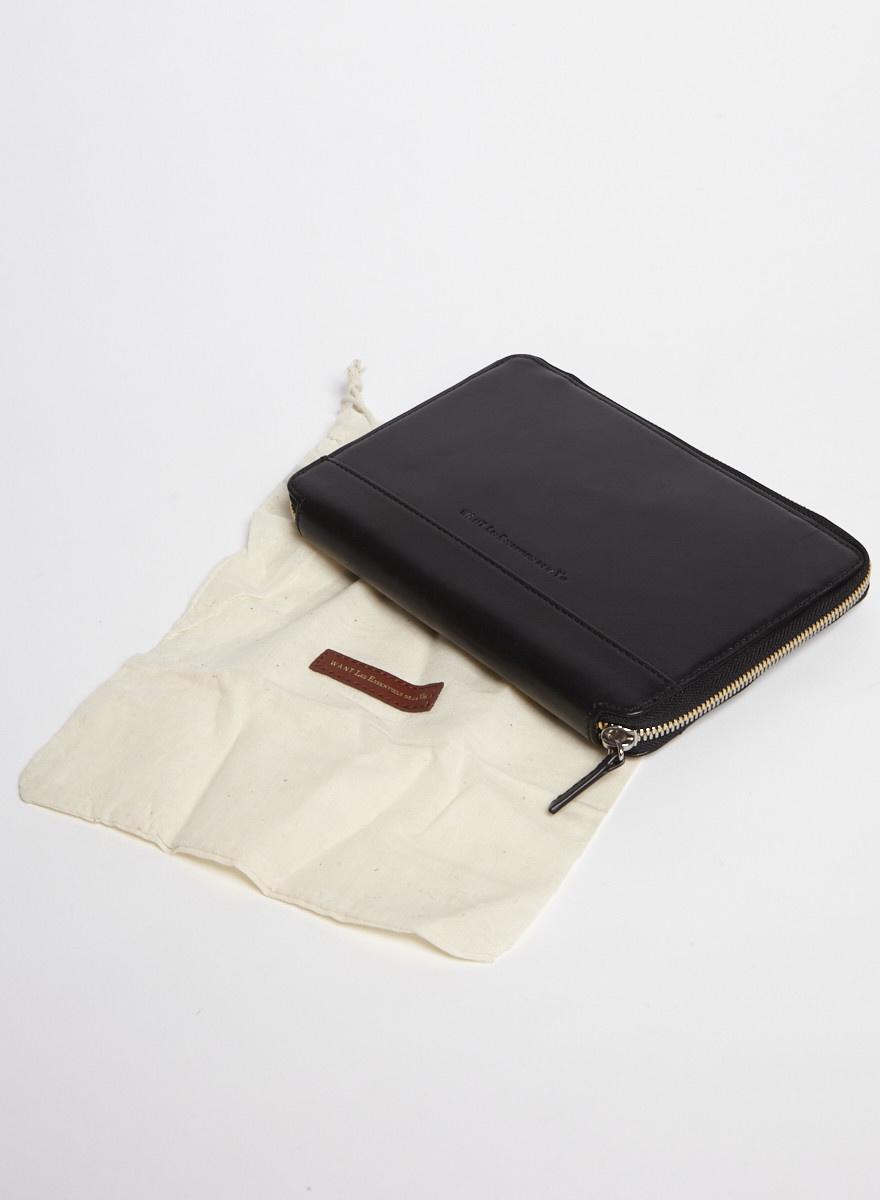 WANT Les Essentiels Pochette noire pour iPad mini en cuir