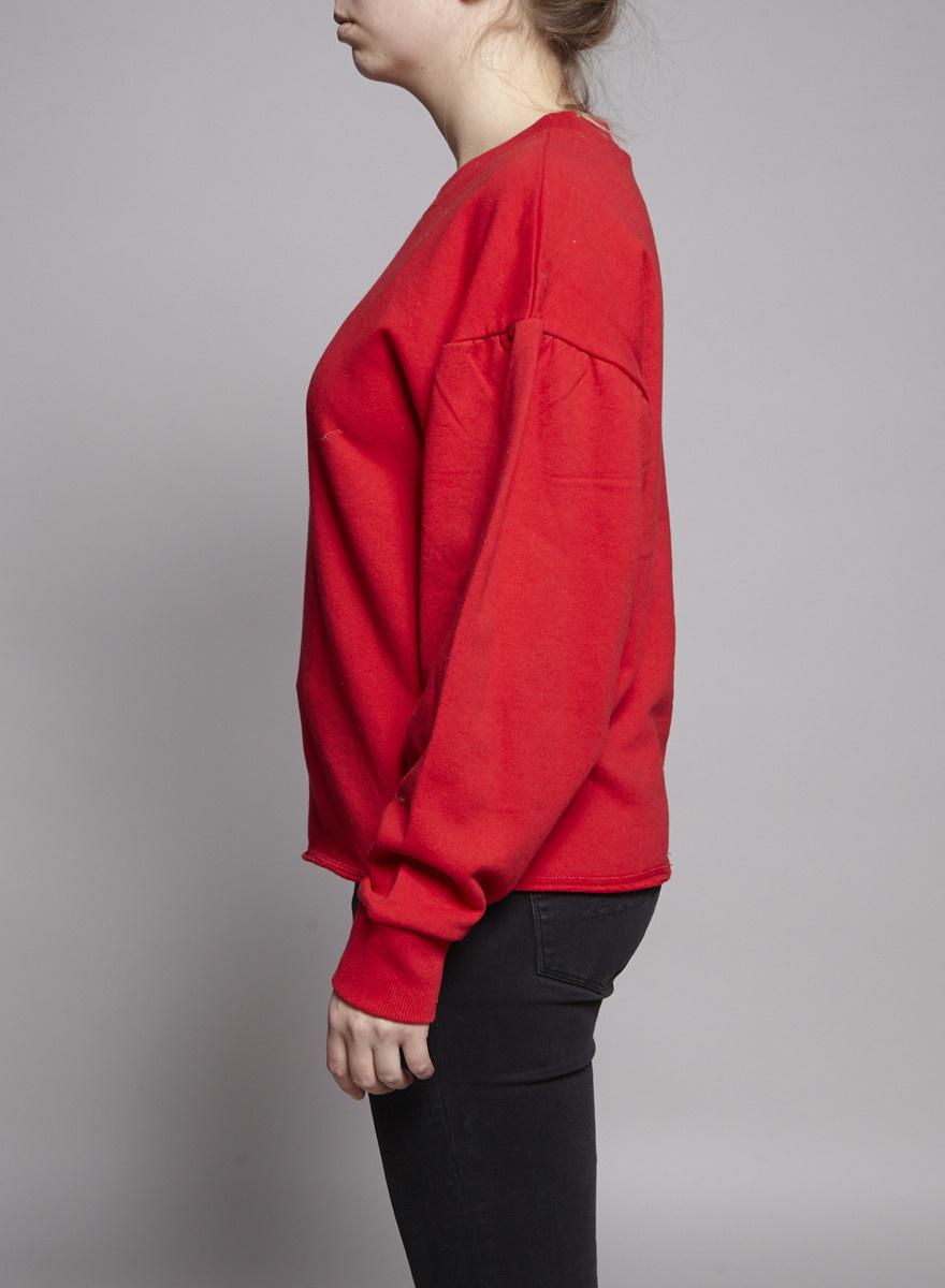 Elan Pull rouge en coton ouaté - Neuf avec étiquette