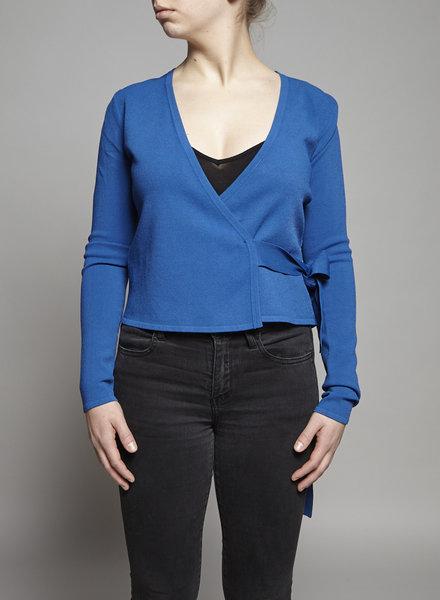 Diane von Furstenberg BLUE WRAP TOP