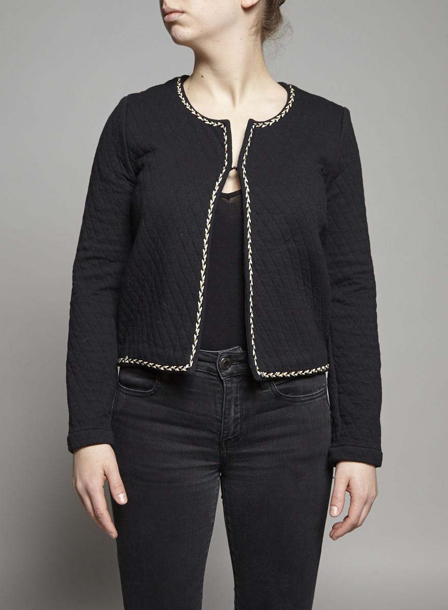 Des petits hauts Black Quilted Jacket