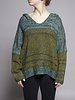 Elan GREEN & YELLOW KNITTED SWEATER - NEW WITH TAG